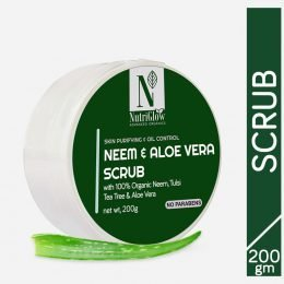 Nutriglow Advanced Organic Aloe Vera Neem Scrub